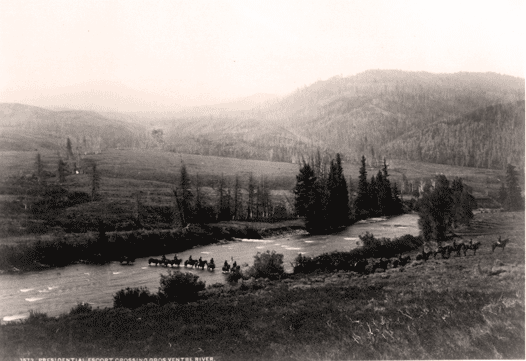 cavalry crossing a ford
